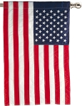 American Flag Embroidered House Flag