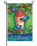 Bluebird Trio Garden Flag
