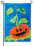 Boo Pumpkin Light Up Garden Flag