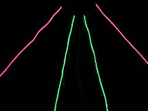6.5' NiteKite Black - Pink & Green