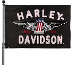 Harley Davidson #1 Logo Estate Flag
