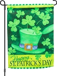 Hats And Shamrocks Garden Flag