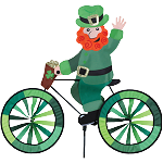 Leprechaun Bicycle Spinner