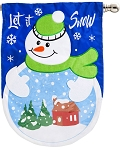 Let It Snow-Globe Linen House Flag