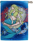 Mermaid In Clam House Flag