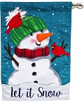 Merry Everything Snowman Linen House Flag