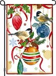 Ornamental Chickadees Garden Flag