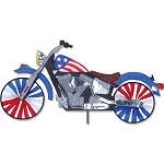 Patriotic Motorcycle Spinner