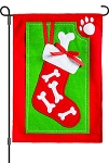 Felt Pet Stocking Garden Flag