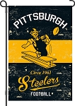 Vintage Pittsburgh Steelers Garden Flag