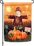 Pumpkin Patch Scarecrow Garden Flag