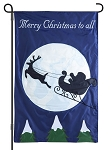Santa's Sleigh Ride Light Up Garden Flag