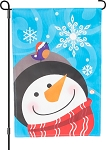 Snowman And Bird Garden Flag