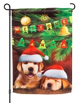 Welcome Santa Garden Flag