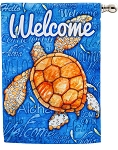 Welcome Turtle House Flag