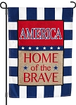 Home Of The Brave Burlap Garden Flag