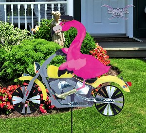 Flamingo Motorcycle Spinner
