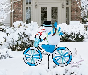 Snowman Bicycle Spinner